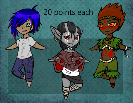 20 Point adopts (closed) by LoreMasterStudio