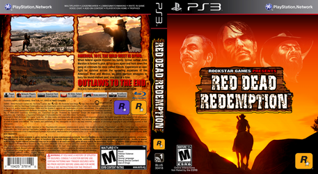 Red Dead Redemption Game Cover With Custom Logo by FajitaPitaGuy