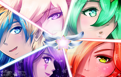 SpeedArt: League of Legends - Star Guardians by MissKilvas