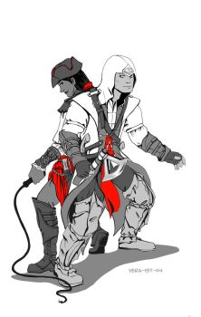 Connor and Aveline by Vera-Ist-44