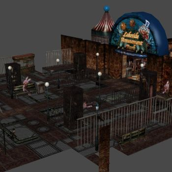 [Silent Hill 3] Theme park entrance by shprops4xnalara