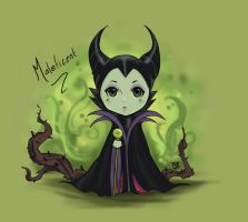 Maleficent Chibi by GM-Pi