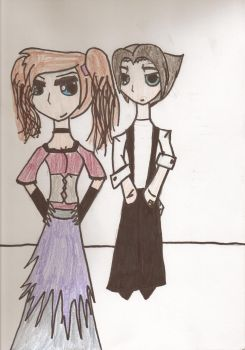 Mrs. Lovett and Sweeney Todd by Freiness