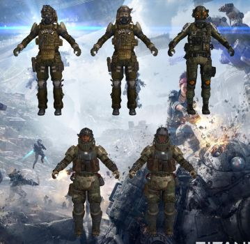 Set of MCOR Soldiers from Titanfall for XPS by Melllin