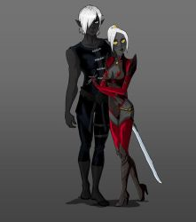 Karthael and Lithia concepts by Bred-Niar