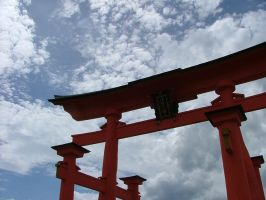 Floating Torii by calger459
