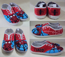 Spider-Man, custom made shoes by Thea-Mazing