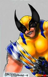 Classic yellow blue suited Wolverine by LoganTRSeymour