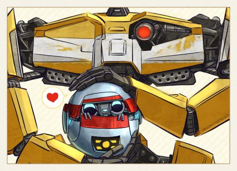 Gortys and LoaderBot by NightCatty