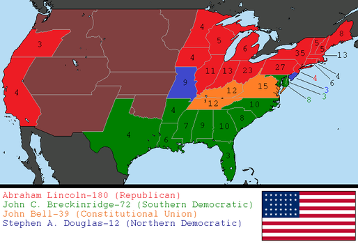 1860 US Presidential Election by tylero79