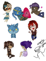 SoMe OlD cHeEbS hErE - Commissons by GhoulTheArtist