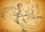 :PC: the Fire dance by Deathtail-The-DraCon