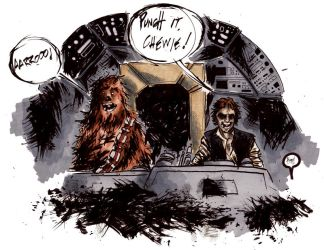 Han and Chewie by Hobo92