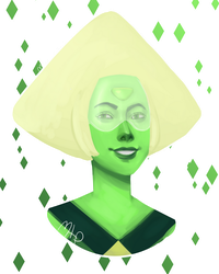 Peridot Painting by MeowTownPolice