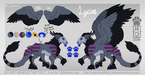 Lycan - Updated Ref Sheet by Cerpquake