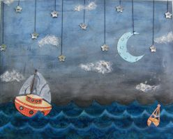 Boats and Birds -For Sale- by Amouse