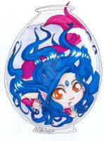 Mermaid! Neptune - Chibi OC by ALittleLady