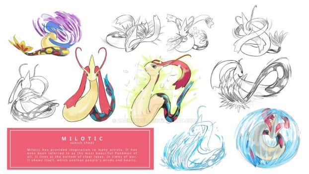 COMMISSION MILOTIC sketch sheet by zacharybla