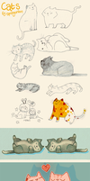 Lots of Cats by springonion