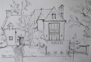 House Sketch with Fineliner by Gregor1992