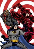 Batman Daredevil vs the hand/C.o.o by nic011