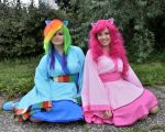 Rainbow Dash and Pinkie Pie Cosplay by Daseh
