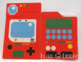 3D Pokedex Cross Stitch Open by LordLibidan