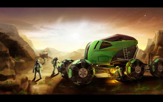 Tractor for Mars NVart Contest by Vincent-Montreuil