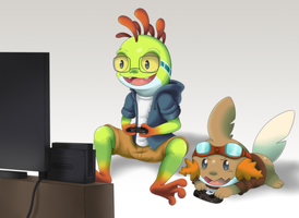 Comission - It's good to play games by Kamezdov