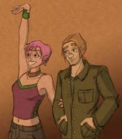 Lupin and Tonks by Sarapsys