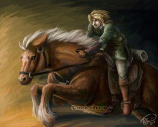 Epona and Link by rosiesinner