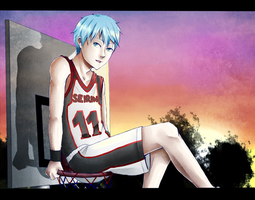 kagami-kun im up here by BlackDeva