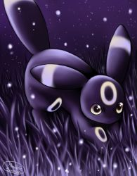 Umbreon hunting in the night by michellescribbles