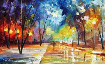 The Warmth Of Winter by Leonid Afremov by Leonidafremov