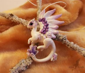 Candy sugar blueberry dragon necklace by AlviaAlcedo