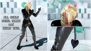 All Girls Heart Tail Devil Horns [Tekken 7 PC mod] by Abrikatin