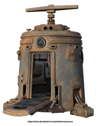 Free stock PNG:  Rusty space module by ArtReferenceSource