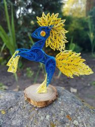 Quilling 3D-BlueRay Pony by MaryPuppins