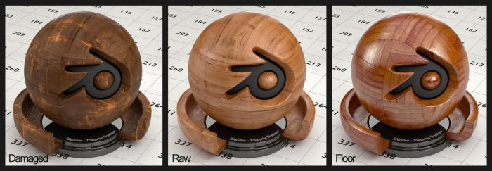 Wood material for Blender (no UV's needed) by Nikola3D