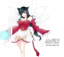 League of legends : Ahri by Sinrid