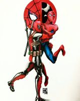 Best Bros! Go Team spideypool! by norizz-san