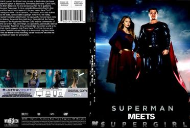 Superman meets Supergirl DVD cover by SteveIrwinFan96