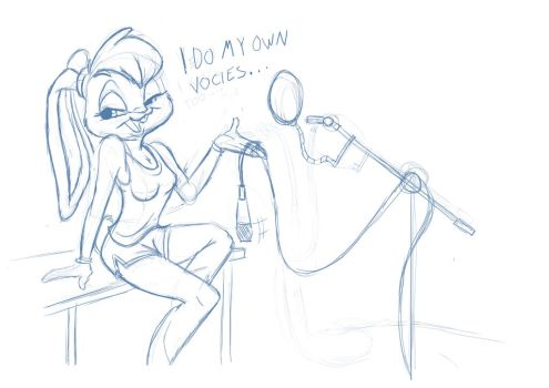 Lola I do my own voices sketch by CartoonGurra