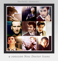 9 Doctor Who Icons by TinaTurtle