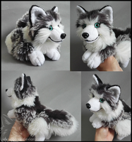 SOLD - Grey Frost wolf by CyanFox3