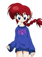 Too Small Sketchbook: Ranma Holiday Sweater by darkduskshine
