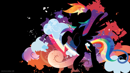 Rainbow Dash Silhouette Wall - Black Edition by SambaNeko
