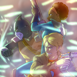 FINAL SPACE - Battle Trio by KP-Lionheart