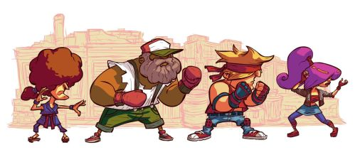 Beat 'em up Characters by thurZ