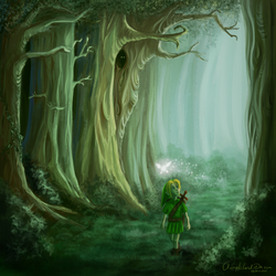 Link in Forest by CherryIsland